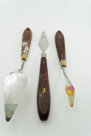Three spatulas dirty 写真素材