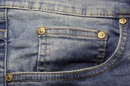Blue jeans pocket Standard-Bild