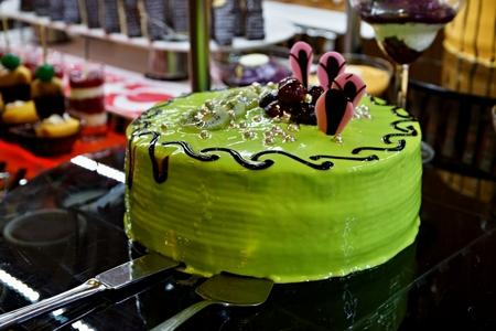 green cake Standard-Bild