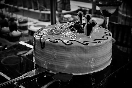 cake balck and white Standard-Bild