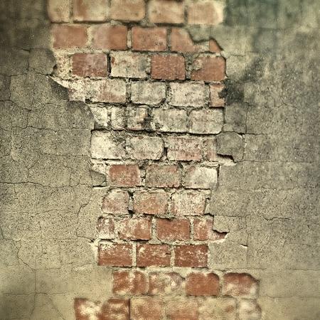 Risse in der Wand Standard-Bild - 98046826