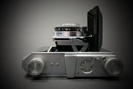 camera isolated on grey