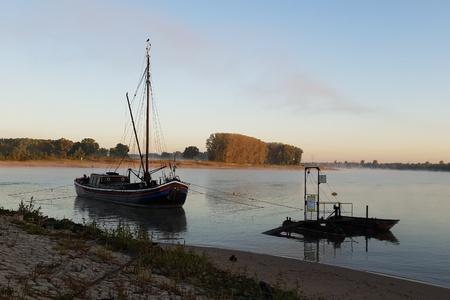 Morning mist on the river Standard-Bild - 116295782