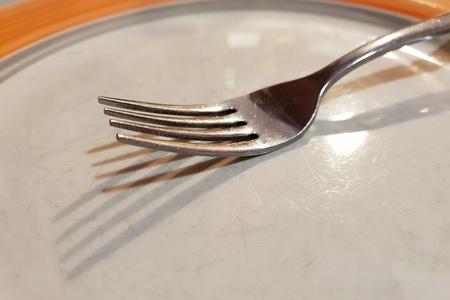 Fork on the plate Standard-Bild - 116295943