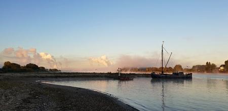 Morning at the river Standard-Bild - 116296037