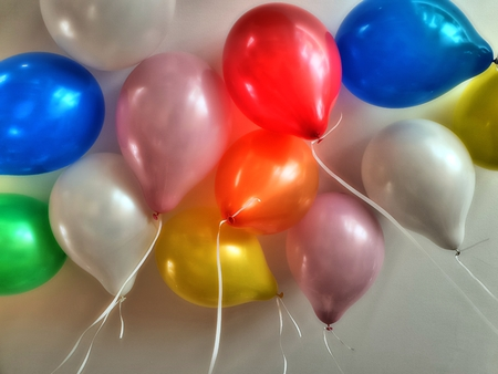 Many colorful balloons Standard-Bild - 116296039