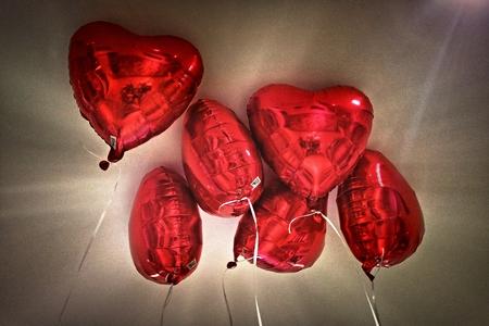 heart balloons Standard-Bild - 116296041