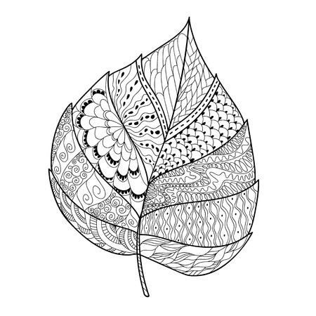Doodle de la hoja Foto de archivo - 63133509