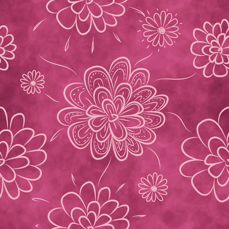 Seamless floral pattern. Romantic background with flowers. Vettoriali