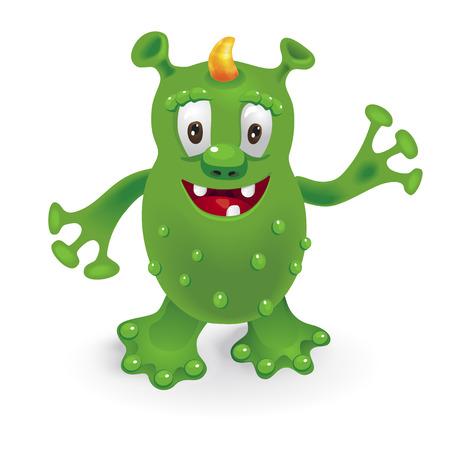 Funny cartoon monster. Illustration