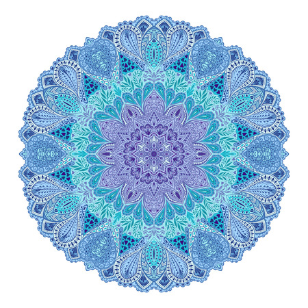 used ornament: Mandala. Round Ornament Pattern. Beautiful ornament can be used as a greeting card. Hand drawn background