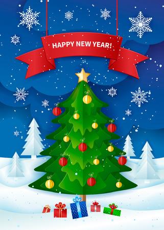 Christmas designed greeting card. Ilustração
