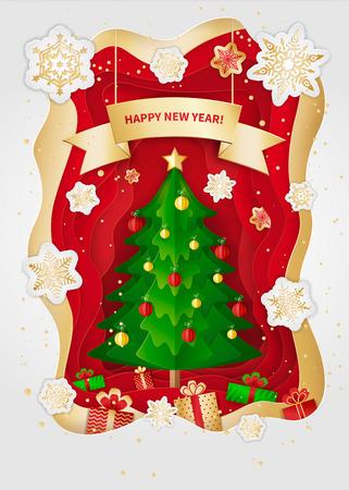 새 해와 크리스마스 인사말 카드 디자인입니다.