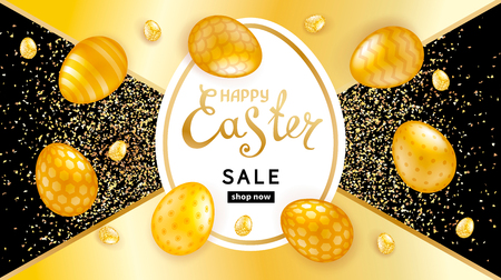 Easter Template for cards, banners, posters design 向量圖像