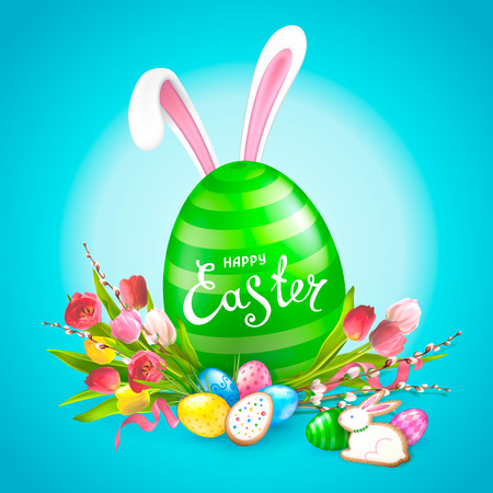 Easter Template for cards, banners, posters design Illustration