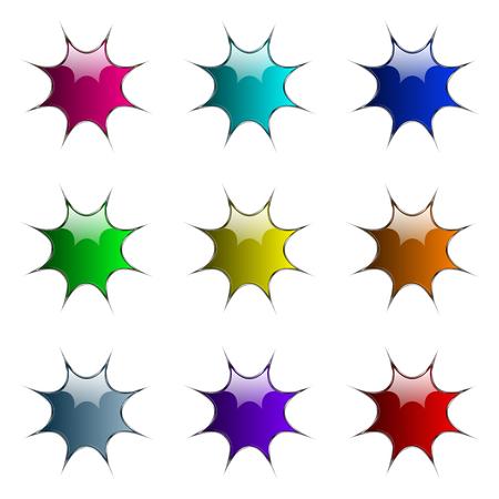 blots vector buttons