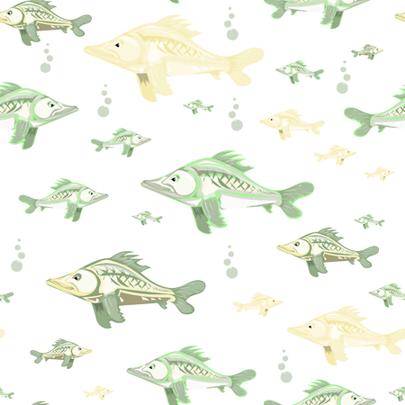 bleb: seamless pattern of colorful fish