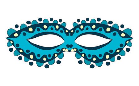 Carnival mask. vector illustration. Drawing by hand. Illustration