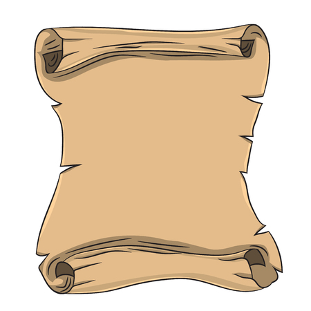 old scroll. vector illustration. Drawing by hand. Illustration