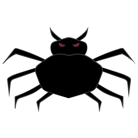 Cartoon image of a spider on white background. Illustration