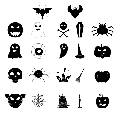 A set of icons for Halloween.