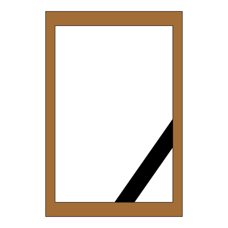 Mourning frame for photography. Template. Vector graphics.