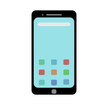 Template picture of a smartphone in a flat style. Vector graphics