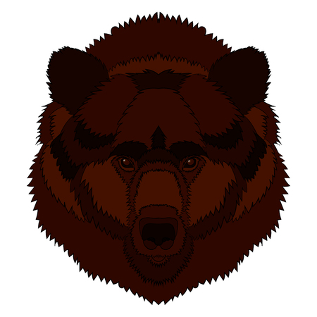 Illustration of a bear s head. Vector graphics. Hand drawing 向量圖像