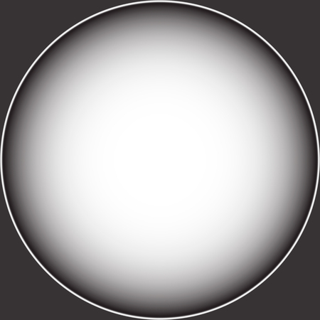 Vignetted frame in the form of a gradient black and white circle. Vector graphics