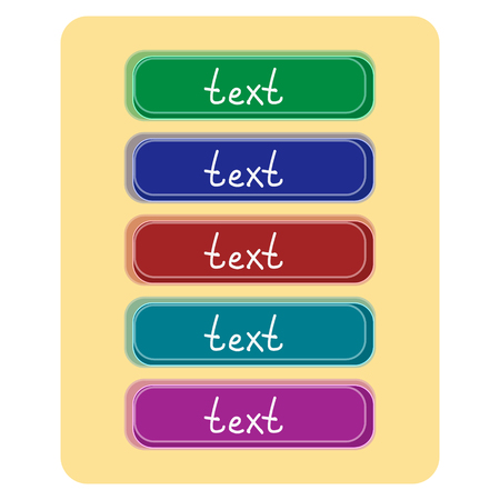 Set of graphic buttons for web design. Vector Image