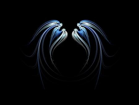 천사 날개의 프랙탈 추상화