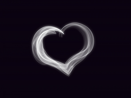 original sparkle: Elegant and simple heart create from smoke