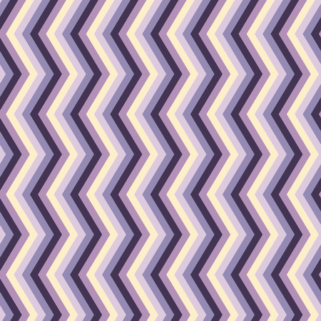 Zig zag seamless pattern or background with violet, purple and vanilla Vector