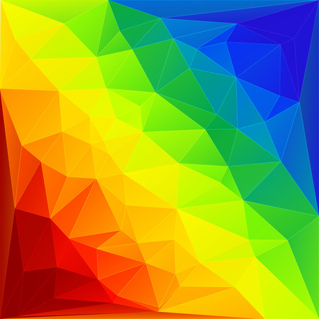 Rainbow triangles background