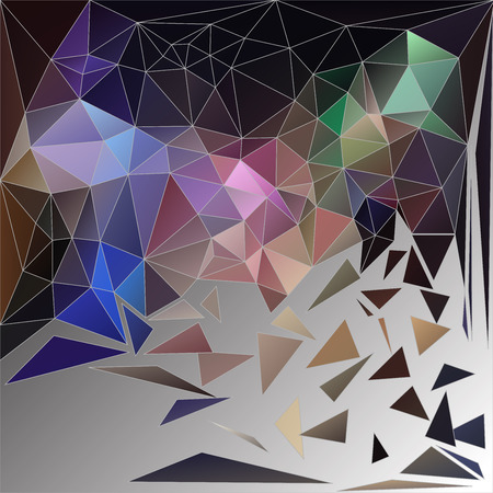 apart: Crumbled rock background made from triangles