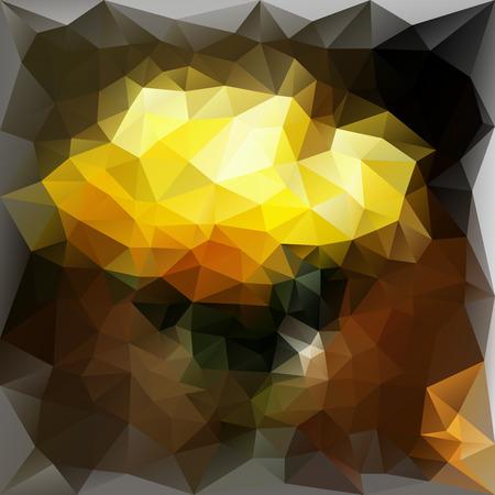 gele rozen: Gele rozen gemaakt van driehoeken Stock Illustratie