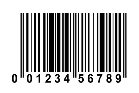 Exemplar for Barcode with fake numbers Vector