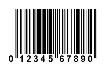 Simple barcode with fake numbers Stok Fotoğraf - 29677656