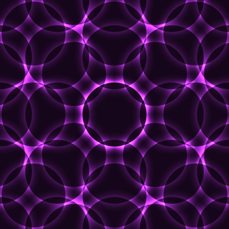 Purple Kaleidoscope Circle Seamless Background or Pattern Vector