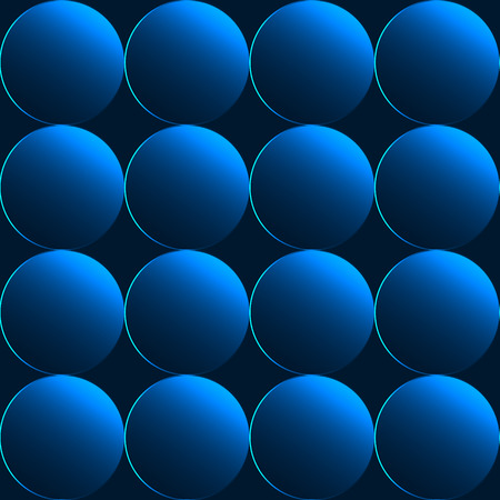 Blue 3D buttons seamless background or pattern Vector