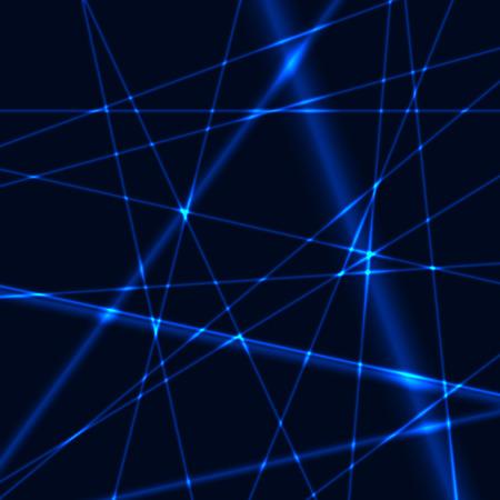 Blauwe laser raster of netto achtergrond Stock Illustratie