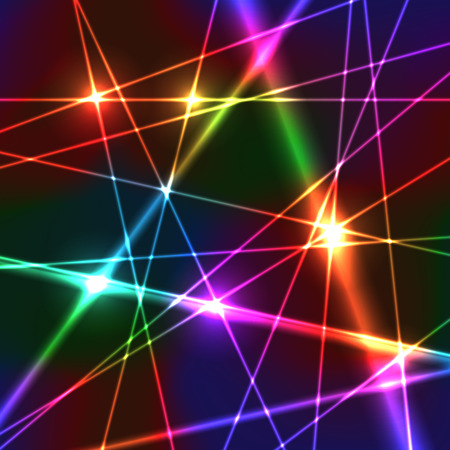 Neon Shiny Bright Rainbow Colors Laser Background