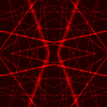 Seamless Background from Red Laser Beams Vector