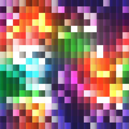 plastic 3D mosaic with rainbow bright colors (seamless background)