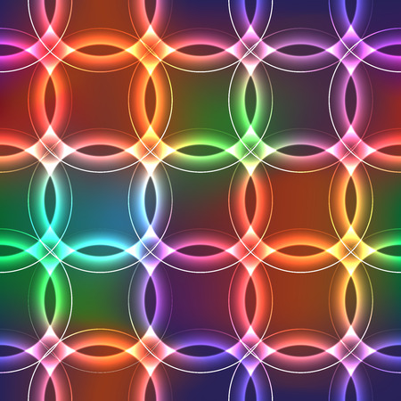 shinning: Seamless background with shinning plasma circles with neon effect with bright rainbow colors