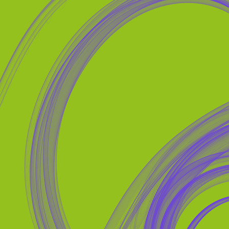 lilla: Lime green background with lilla smoked curl circle spiral from delicate thread