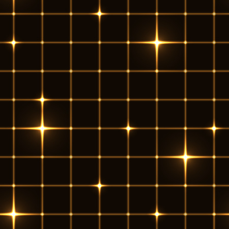 safe with money: Golden grid or net with sparkling points Illustration