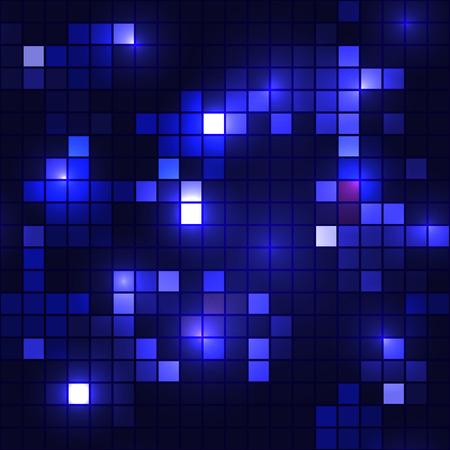 backgroud: Shining blue mosaic - seamless backgroud Illustration