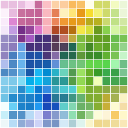 mosaic background: Colorful square mosaic with white borders - background or pattern