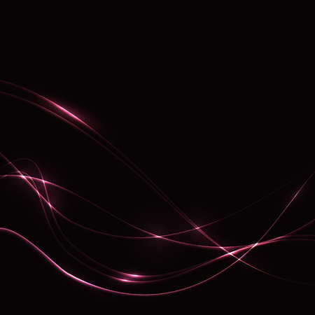 od: Shining pink waves od dark background - template
